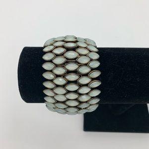 Beautiful Gold-Tone 5 Row Stretch Bracelet